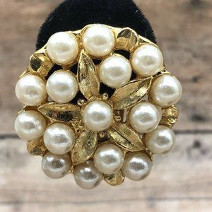 Large High End Cluster Earrings Clip On